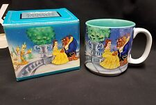 Vintage Retired Rare Disney Beauty And The Beast Belle Dance Coffee Mug Cup 12oz