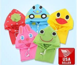 Super Cute Children S Waterproof Hooded Raincoat Jacket Cartoon