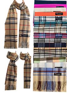Womens-Mens-100-Cashmere-Wool-Wrap-Scarf-Scotland-Made-Plaid-All-Season-Scarves