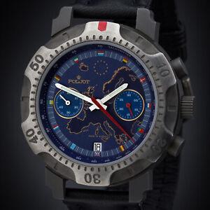 Poljot-Chronograph-Titan-3133-Herren-Handaufzug-Russische-Uhr-EUROPA-2000
