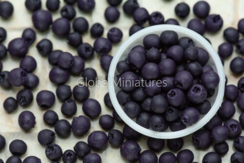 Dollhouse Miniatures Loose Blueberry Fruit Ice Cream Tart Pie Decoration Supply