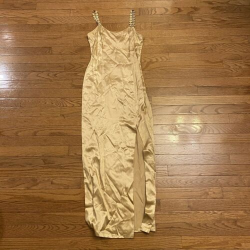Vintage Jessica Mcclintock Gunnesax Gold Gown With