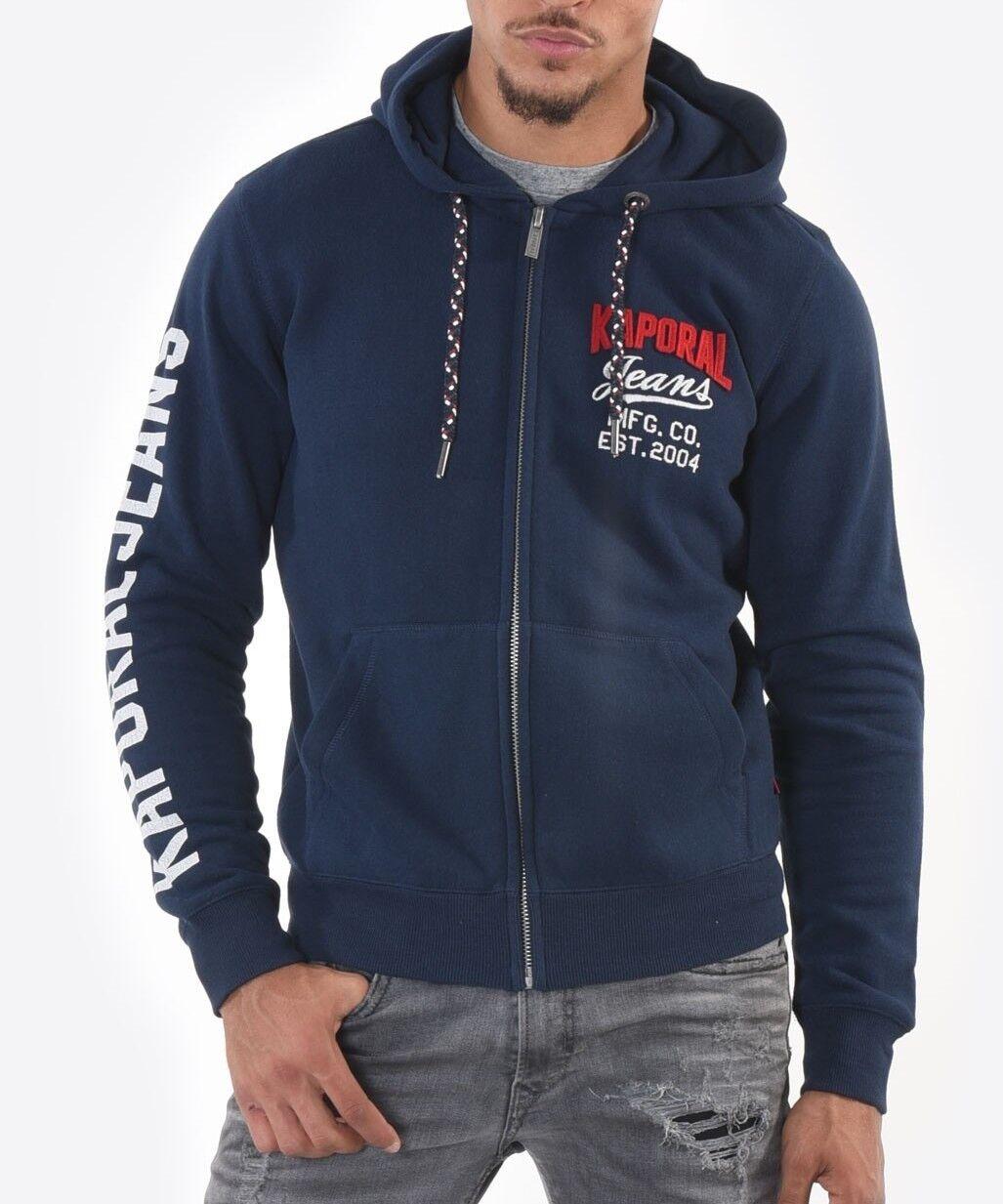 Zip Sweatshirt Kapuzenpulli Kaporal Muzak Marineblau   | Online Shop