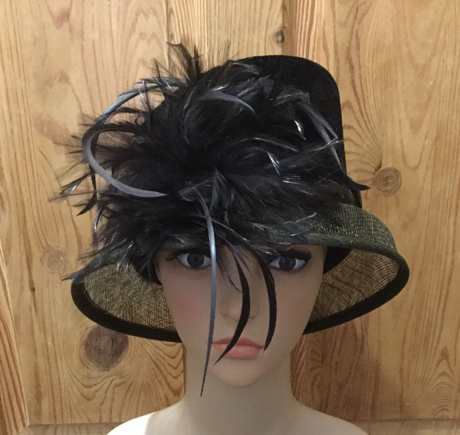 Wedding Hat Occasion Ladies Day Races Hat By Debut Brown Velvet