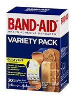 4 Pack - Band-aid Variety Pack 30 Each on sale
