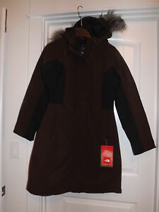Brun Trench Face Grand Coat Nwt North Fourrure The Nashira Fausse format Moyen Large Grand q1awftOT