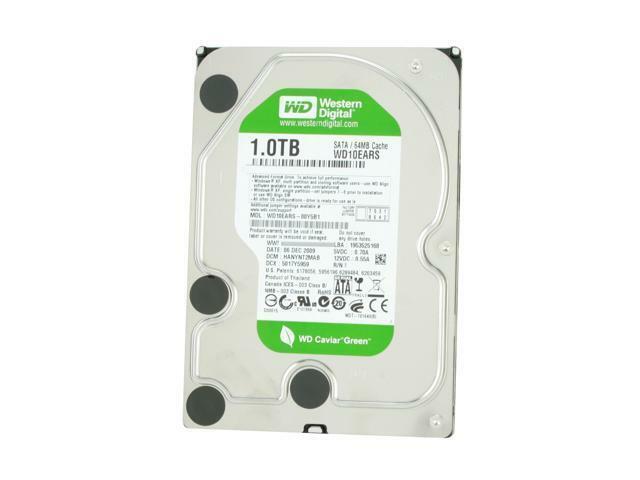 "Western Digital WD10EARS 1TB 5400 RPM 64MB Cache SATA 3.0Gb/s 3.5"" Internal HDD"