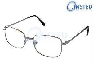 0d6baf384da1 Image is loading Reading-Glasses-Specs-Spectacles-Unisex-Silver-Frame-Long-