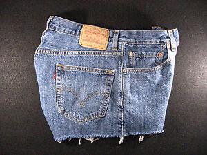Tab Off Cutoff Cut 550 Red High Zipper Waisted Shorts 34 Levis Jeans Denim WwvqUEnxC