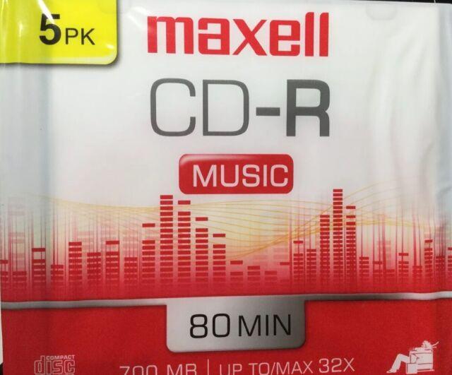 Maxell Music CD-R Media 625132 5 Pack