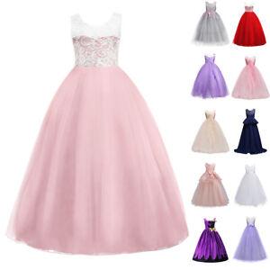 7c9a6121bb Image is loading Flower-Girl-Dress-Big-Girls-Wedding-Birthday-Party-