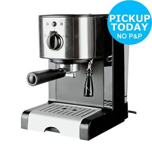 Details About Cookworks Espresso Coffee Machine 15 Bar 125l Stainless Steel