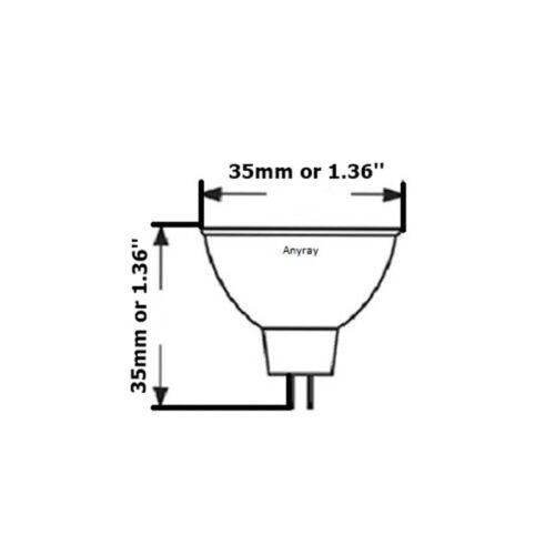 -Bulbs MR11 24V 20 Watt Flood Halogen light Bulbs 20W 24-Volts Anyray A1873Y 5