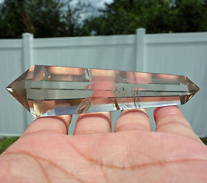 Exceptionally-Clear-CITRINE-Quartz-Crystal-Point-DT-Generator-Double-Terminated