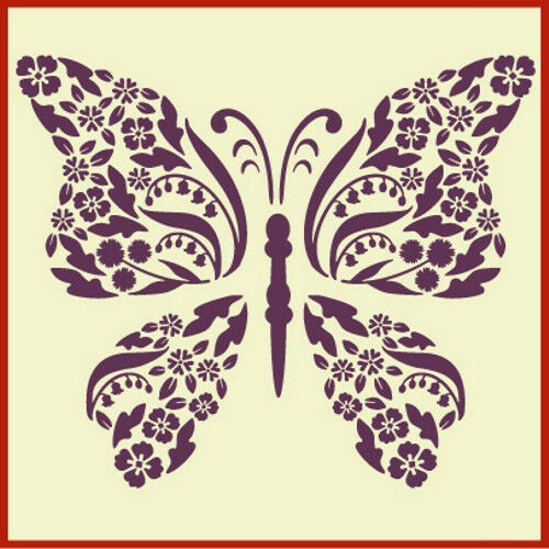 FLOWER BUTTERFLY STENCIL - NEW! - The Artful Stencil