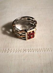 Gems-en-Vogue-Mens-Songea-Sapphire-Gold-Ring-Limited-Michael-Valitutti-sz-11