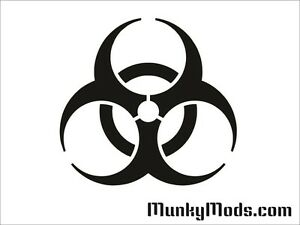 Biohazard-Logo-Computer-PC-Case-Window-Applique-Vinyl-Decal-Color-Choices
