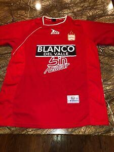 super popular da2ae aa82b Details about Vtg BAKO Men's XL Club America Futbol Jersey Sin Azucar  ~Red:Blanco Del Valle~