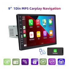 9 Apple Carplay Android Auto Single 1din Car Radio Stereo Bt Mp5 Playercamera Fits 2007 Sportage