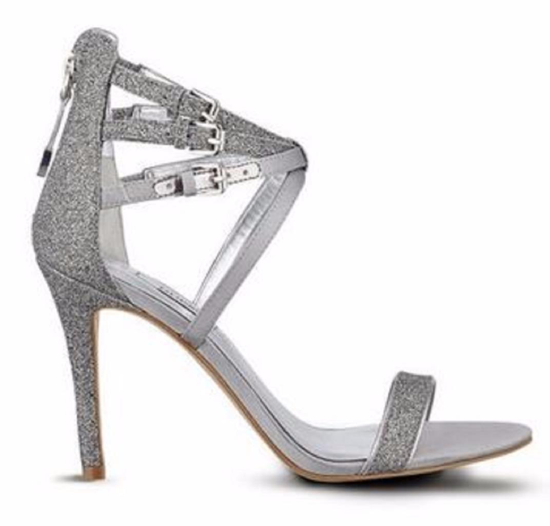 Zapatos de Mujer Guess Laellaly 2 Sandalias De Tiras Vestido Vestido Vestido Tacones plata Glitter  con 60% de descuento