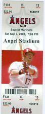 2005 Angels vs Mariners Ticket: Ichiro drives in go-ahead run with third hit