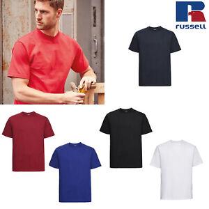 Russell-Men-039-s-Heavyweight-Ringspun-T-Shirt-R-215M-0-Casual-Short-Sleeve-Top-Tee