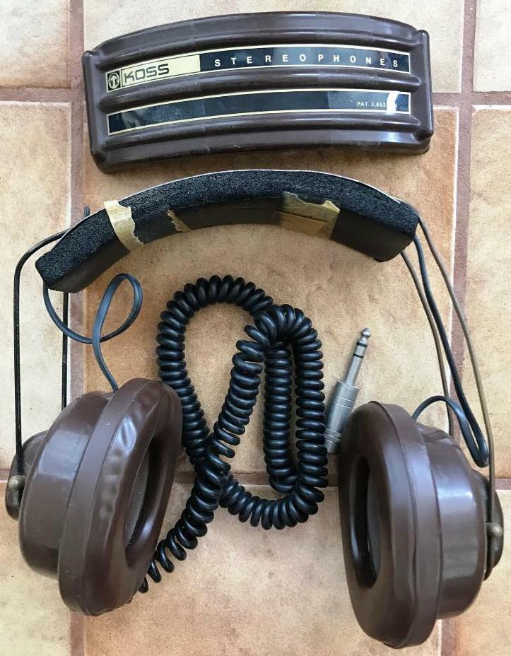 1d52ddf9f4a RARE Vintage Koss Sp-3xc Stereo Headphones Classic DJ Stereophones Mod  Retro for sale online   eBay