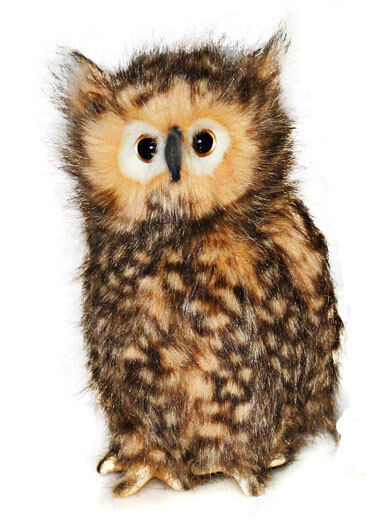 Owl Collezionabile Peluche Realistica Giocattolo Morbido Bird da Hansa - 19cm -