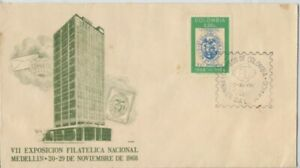 COLOMBIA 1968 Nat. Phililatelic. Exhibition Madelin FDC - unaddressed @D2331