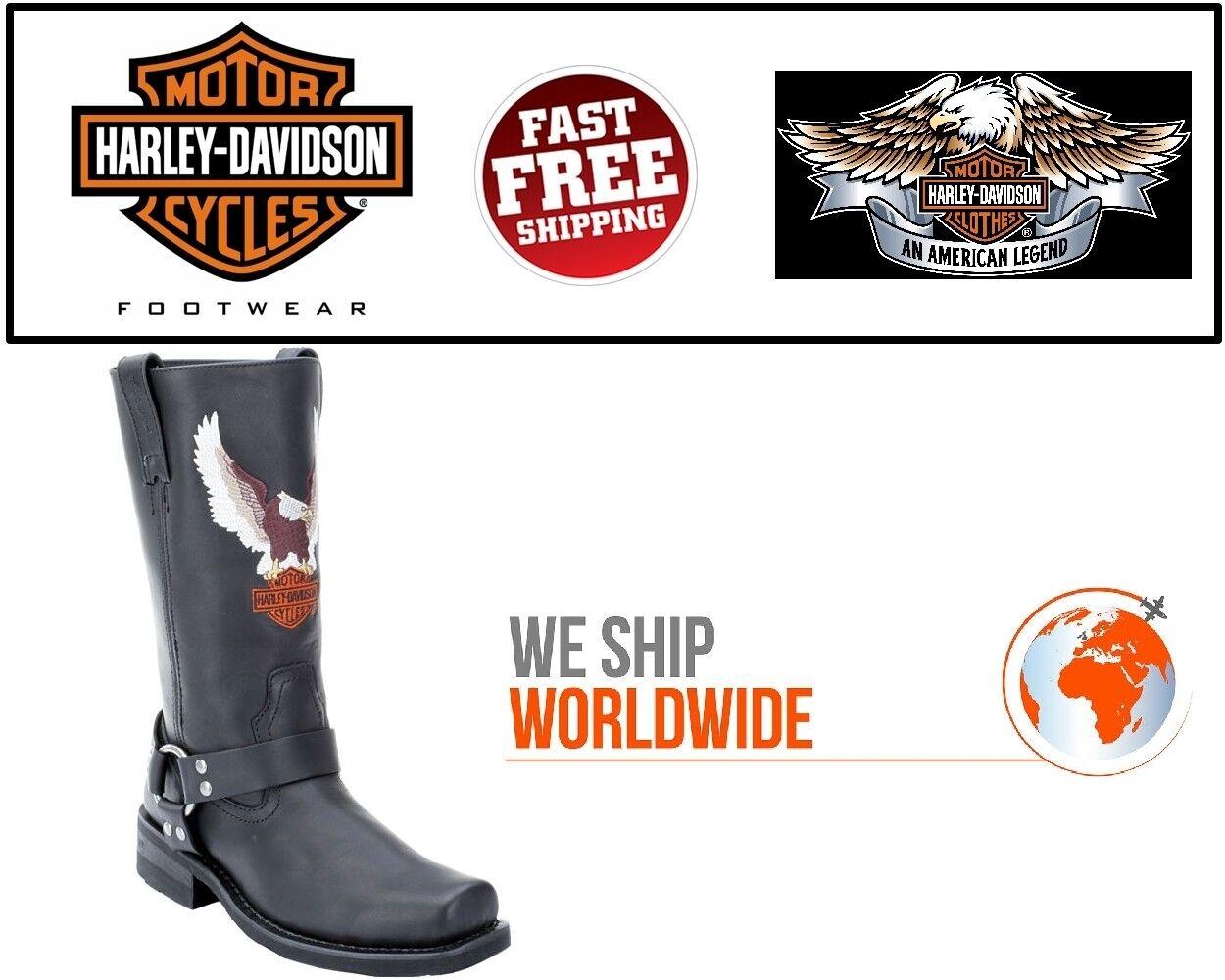 Harley-Davidson D93216 Hombre Darren Cuero Negro Equitación Mc botas-Usa Company