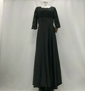 NEW-LIGHT-IN-THE-BOX-Black-Lace-Formal-Maxi-Dress-Occasion-Size-UK-14-TH230661