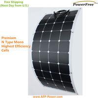 Semi Flexible Bendable 120w 120 Watt Lightweight Solar Panel 12v Battery Offgrid