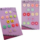 Princess-J Color Daisy / Sun Flower Clip-On Earrings for Kids Teen Girls Womens