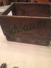 VINTAGE Wooden Beer Crate EICHBAUM Mannheim Germany Old Bottle Carrier Box Case