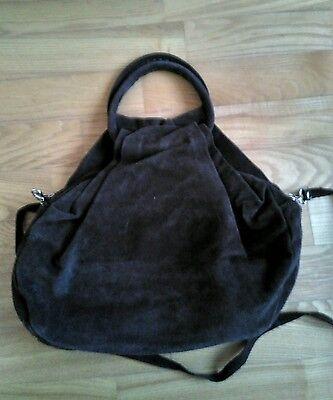 Wildleder Damentasche / Tasche in braun, NEU
