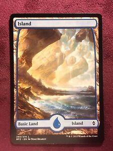 Battle-for-Zendikar-Full-Art-Land-Island-255-VO-MTG-Magic-Mint-NM