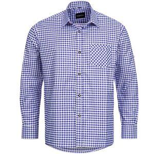 Trachtenhemd Blau Trachtenset aus Trachtenschuhe Dunkelbraun Trachtensocken