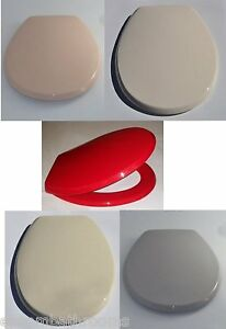 cream plastic toilet seat. Image is loading Bemis Buxton Plastic Toilet Seat Peach Soft Cream  Red Whisper