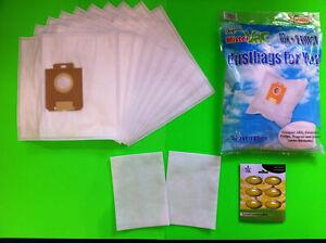 10 Staubsaugerbeutel für Miele 6600 Staubbeutel Filtertüten 2 Filter
