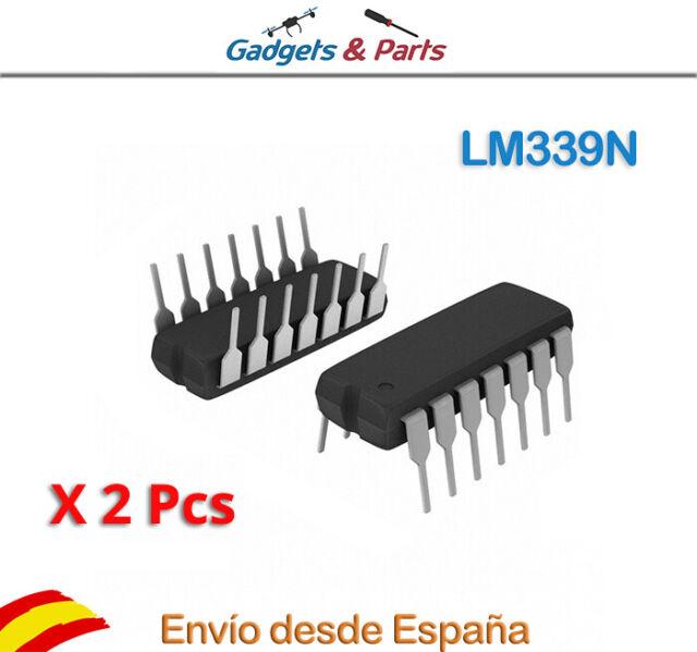 2x LM339N Circuito Integrado DIP14 Comparator Quad R-R O/P ±15V/30V - Nuevo !!!