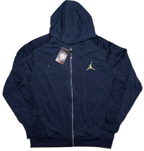 NIKE-AIR-JORDAN-13-Retro-Full-Zip-Hoodie-Jacket-519610-Blue-Large-L-New