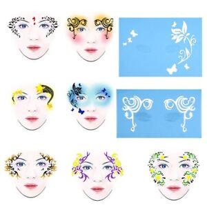 A Imagem Está Carregando 7pcs Festival De Estencil Pintura Partes Maquiagem