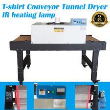6000w Screen Printing T Shirt Conveyor Tunnel Dryer 59ft X 315 Belt 220v