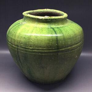 Chinese-Han-Dynasty-Green-Glazed-Pot-Urn