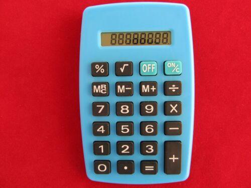 hellblau 8stellig Taschenrechner Batteriebetrieb