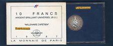 Coffret BU - 10 Francs Argent 1987 Millénaire CAPETIEN + Boite Tirage 20000 Exem