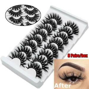 8-Pairs-3D-Mink-False-Eyelashes-Wispy-Cross-Long-Thick-Soft-Fake-Eye-Lashes-Hot