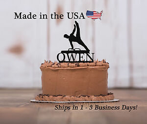 Image Is Loading Gymnastic Cake Topper Male Teen Birthday Decor