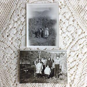 Antique Photo Walker School Class Little Boys Girls Dog 1916 California Franklin