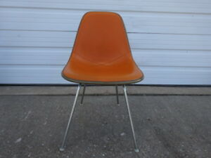 Vintage Herman Miller Chairs >> Details About Vintage Herman Miller Eames Dsx Alexander Girard Naugahyde Cover Pad Side Chair